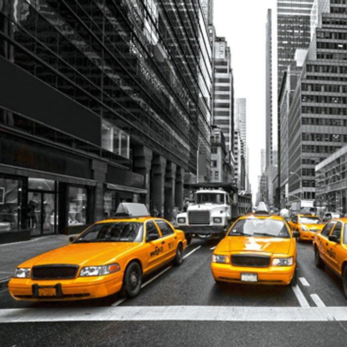 Fototapeta na zeď Dimex Taxi L-526 | 220x220 cm (2-dílná fototapeta | lepidlo a pošta zdarma)