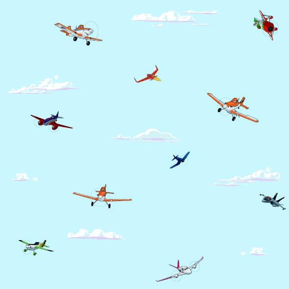 Dětské tapety Disney Deco 3004-1 | 10,05 x 0,53 m (Tapeta Letadla - papírová)