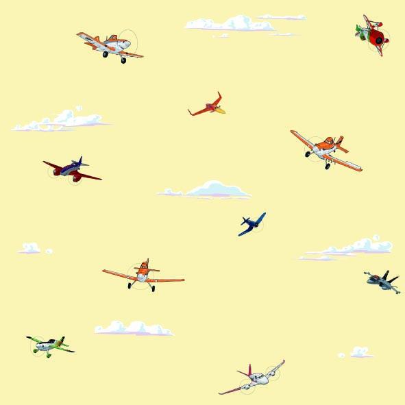 Dětské tapety Disney Deco 3004-2 | 10,05 x 0,53 m (Tapeta Letadla - papírová)