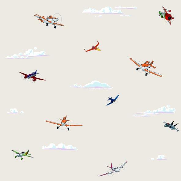 Dětské tapety Disney Deco 3004-3 | 10,05 x 0,53 m (Tapeta Letadla - papírová)