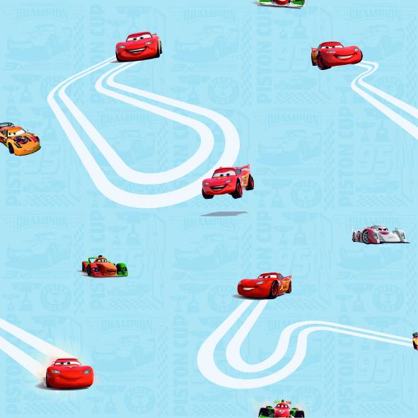 Dětské tapety Disney Deco Cars 3005-1 | 10,05 x 0,53 m (Tapeta Auta - papírová)