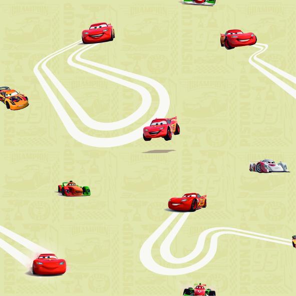 Dětské tapety Disney Deco Cars 3005-2 | 10,05 x 0,53 m (Tapeta Auta - papírová)