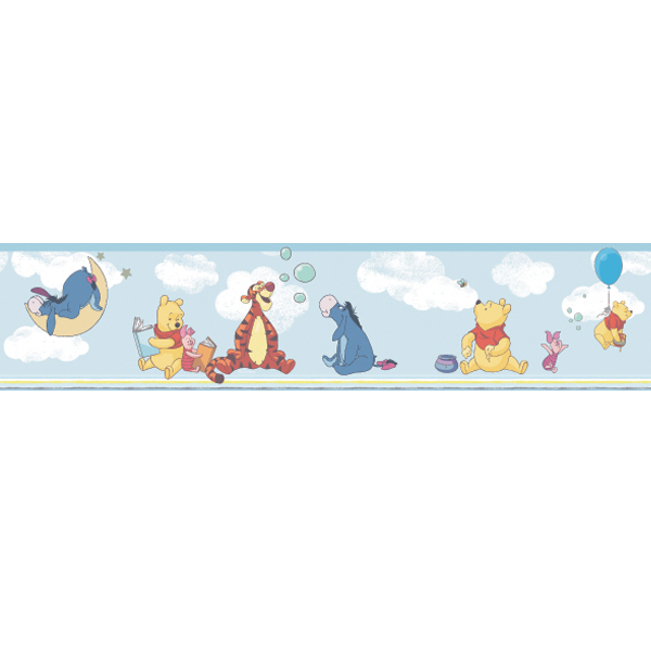 Samolepicí bordura Disney Deco 3501-1 | 5 m (Bordura Pú a kamarádi)