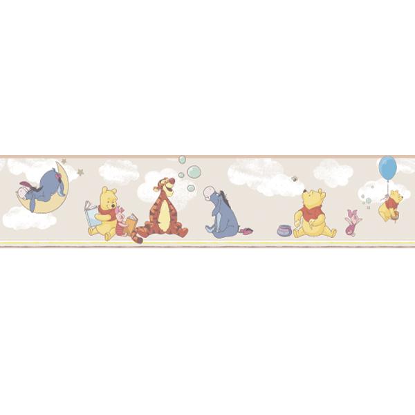 Samolepicí bordura Disney Deco 3501-3 | 5 m (Bordura Pú a kamarádi)