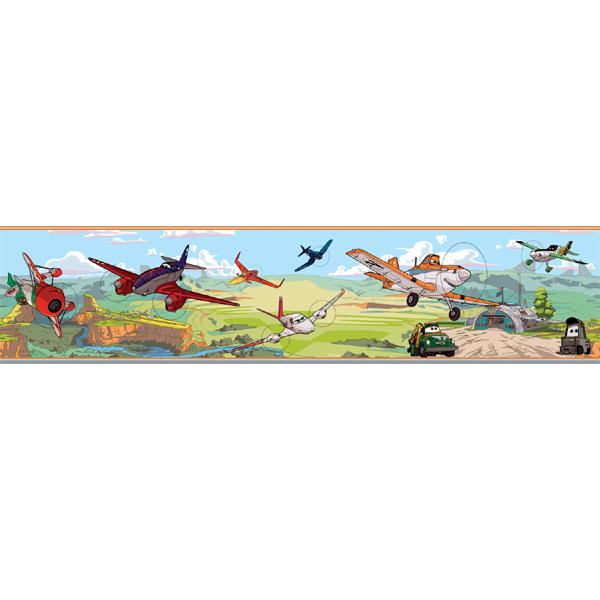 Samolepicí bordura Disney Deco 3504-1 | 5 m (Bordura Letadla)