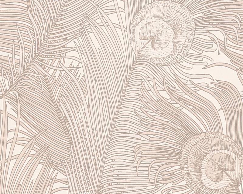 Tapeta na zeď Piazza 96108-1 | 10,05 x 0,53 m (Barokní tapeta - paví pírka)