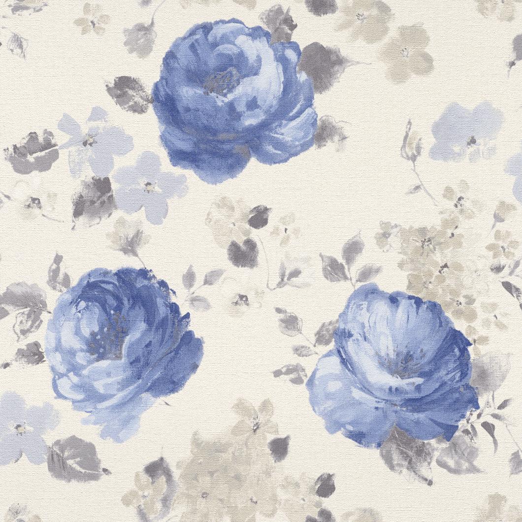 Tapety na zeď Rasch Florentine 448818 | 0,53x10,05m (Vliesová tapeta - hnědá, modrá)