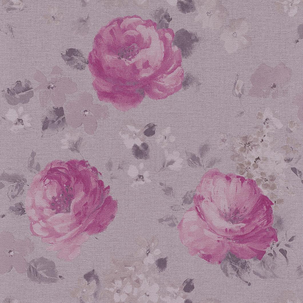 Tapety na zeď Rasch Florentine 448849 | 0,53x10,05m (Vliesová tapeta - fialová, růžová)