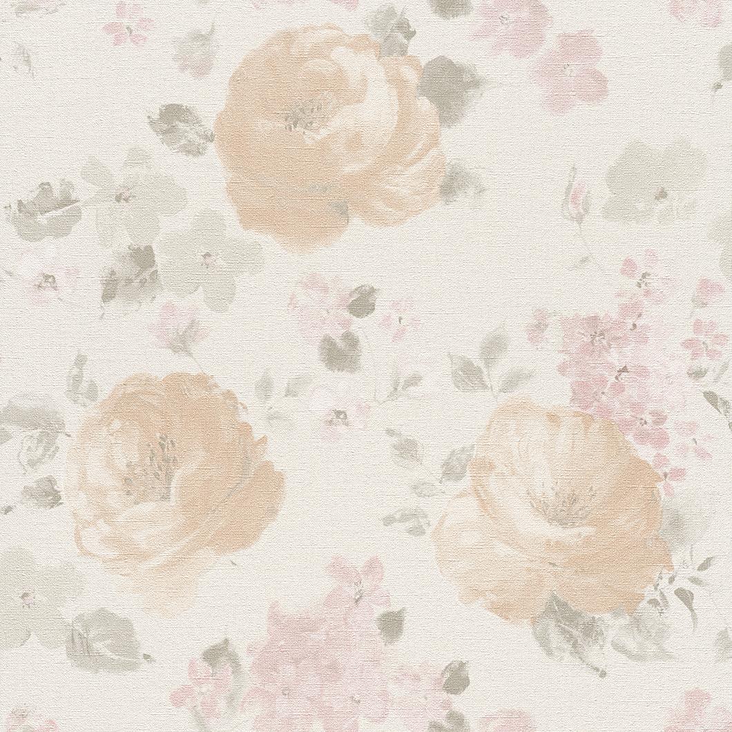 Tapety na zeď Rasch Florentine 448870 | 0,53x10,05m (Vliesová tapeta - růžová, hnědá)