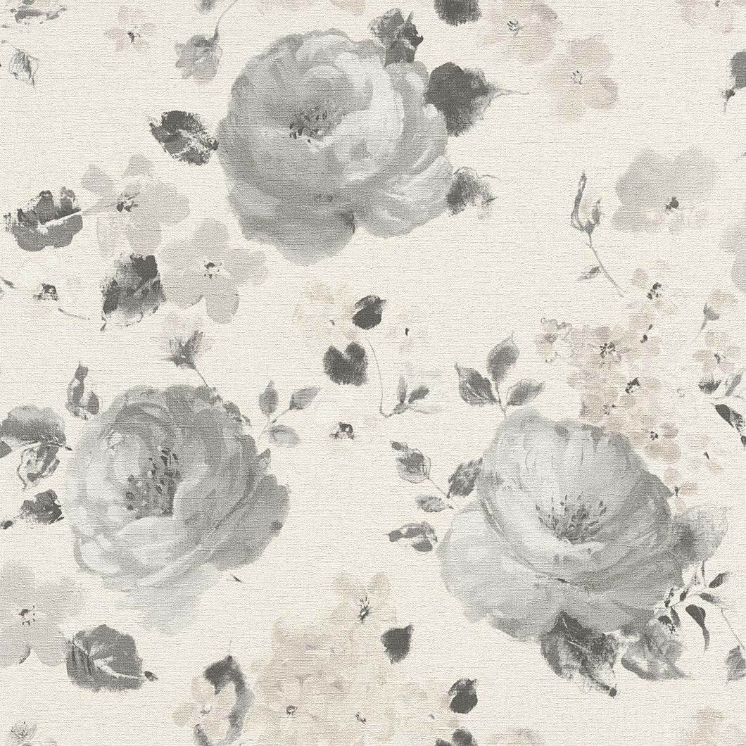 Tapety na zeď Rasch Florentine 448894 | 0,53x10,05m (Vliesová tapeta - smetanová, šedá)