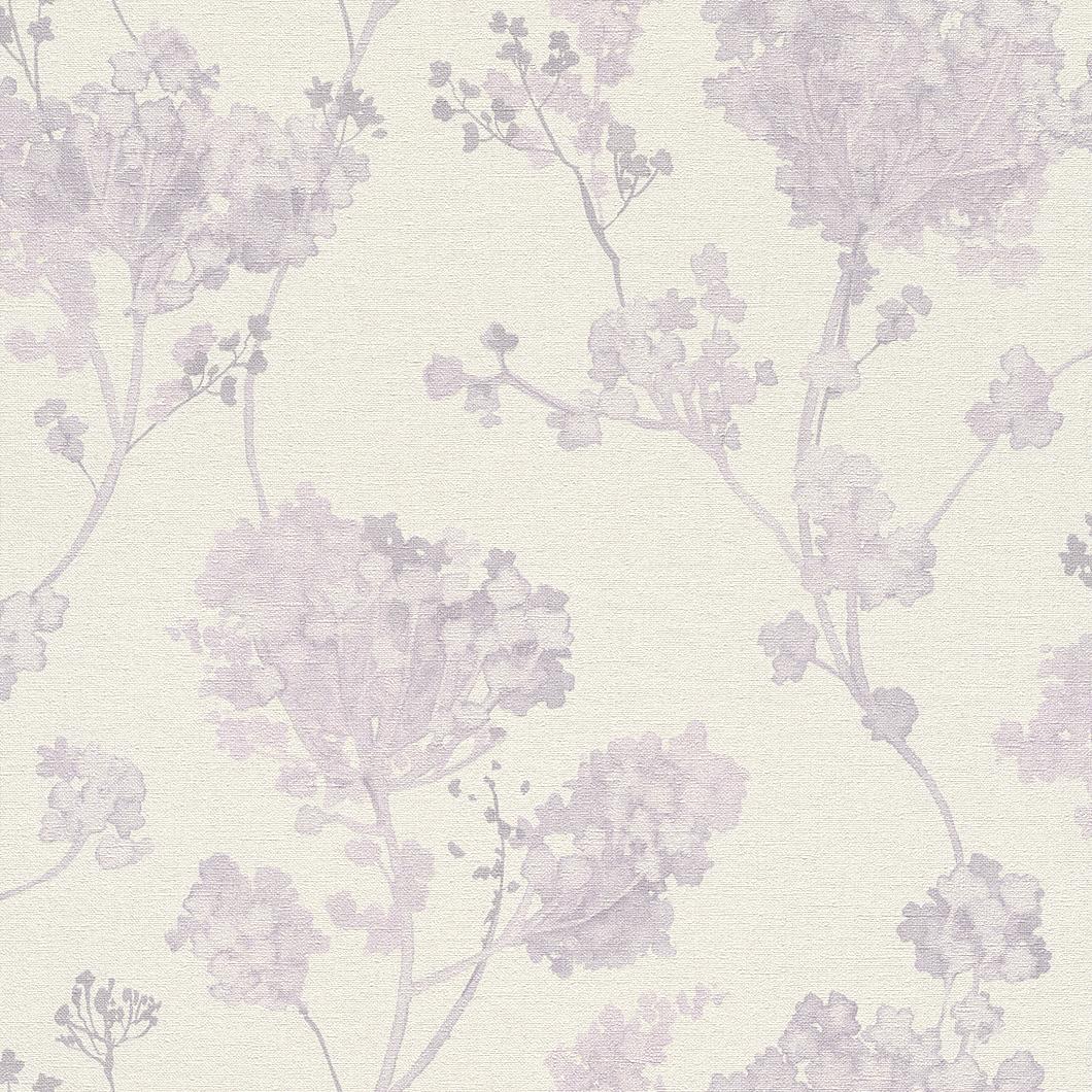 Tapety na zeď Rasch Florentine 449228 | 0,53x10,05m (Vliesová tapeta - smetanová, fialová)