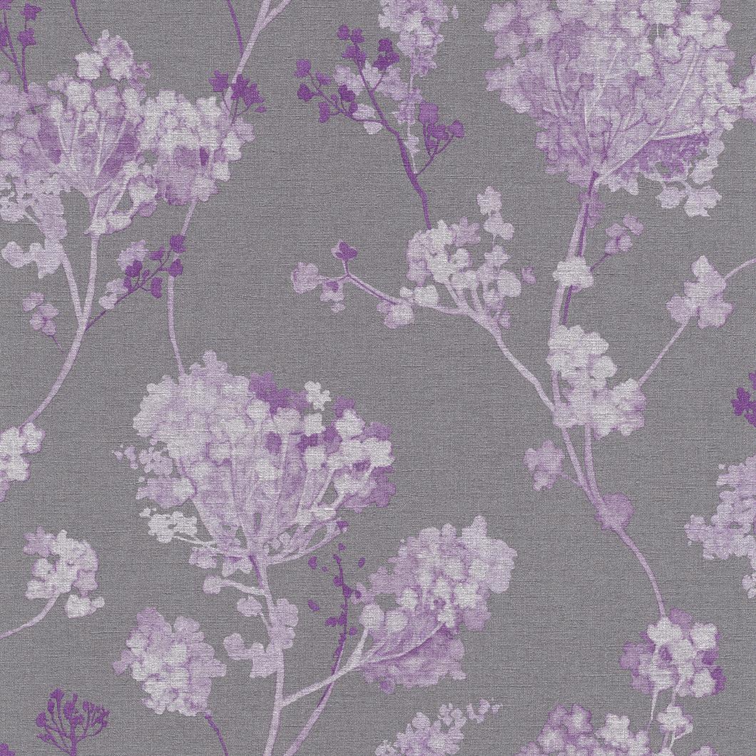 Tapety na zeď Rasch Florentine 449235 | 0,53x10,05m (Vliesová tapeta - fialová, šedá)