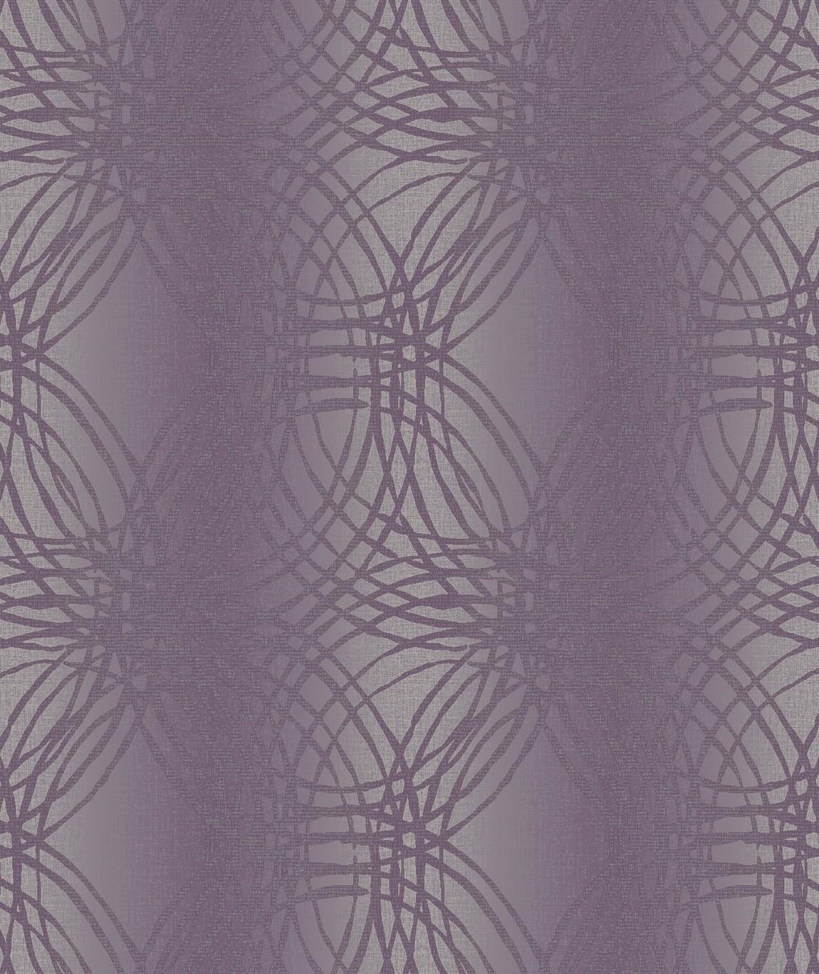 Tapety na zeď Vavex BOA-015-02-5 | 0,53 x 10,05 m (Vinylová tapeta - fialové kruhy)