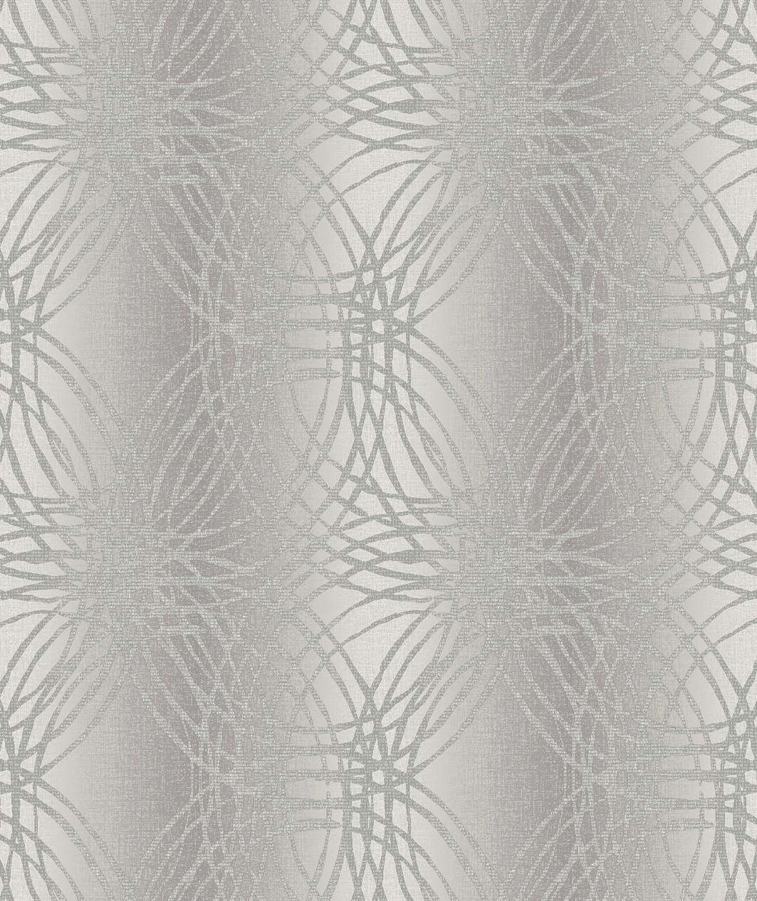 Tapety na zeď Vavex BOA-015-03-4 | 0,53 x 10,05 m (Vinylová tapeta - šedé kruhy)