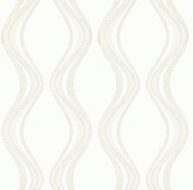 Tapeta na zeď Vavex Colin 488061 | 0,53 x 10,05 m (Bílá tapeta s flitry)