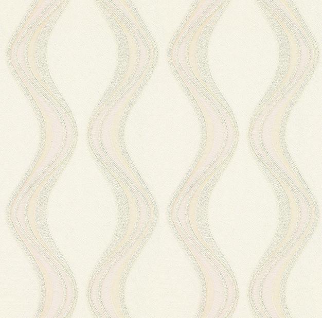 Tapeta na zeď Vavex Colin 488062 | 0,53 x 10,05 m (Krémová tapeta se stříbrnými flitry)