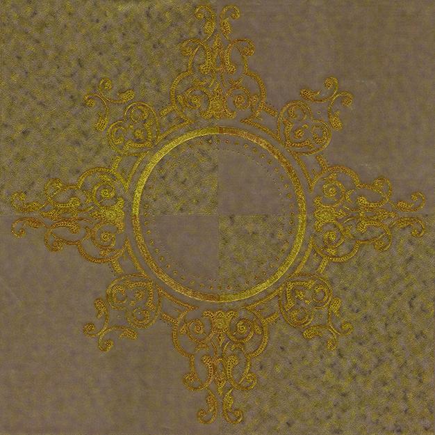 Tapeta na zeď Vavex Colin 488156 | 0,53 x 10,05 m (Zlatohnědá tapeta se zlatým vzorem)