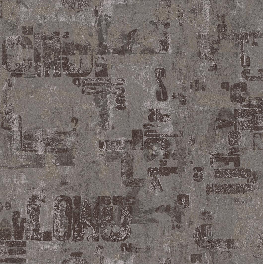 Tapeta na zeď Rasch Fiducia 425208 | 0,53x10,05 m (Vliesová tapeta - černá)