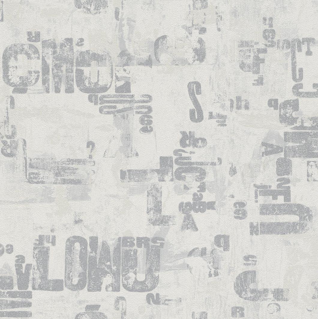 Tapeta na zeď Rasch Fiducia 425215 | 0,53x10,05 m (Vliesová tapeta - šedá, bílá)