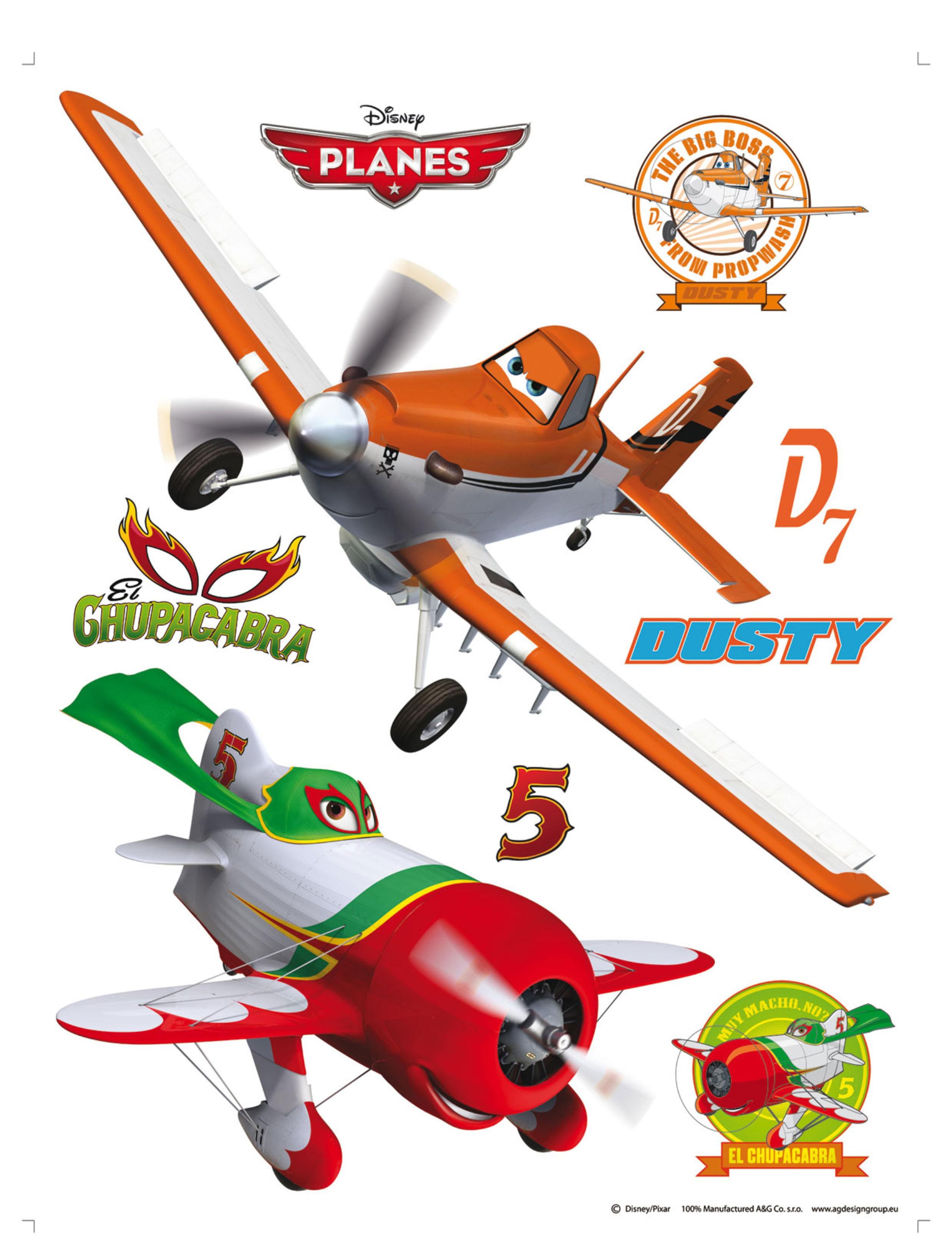 Maxi nálepka Planes DK1764 (Dekorativní samolepka)