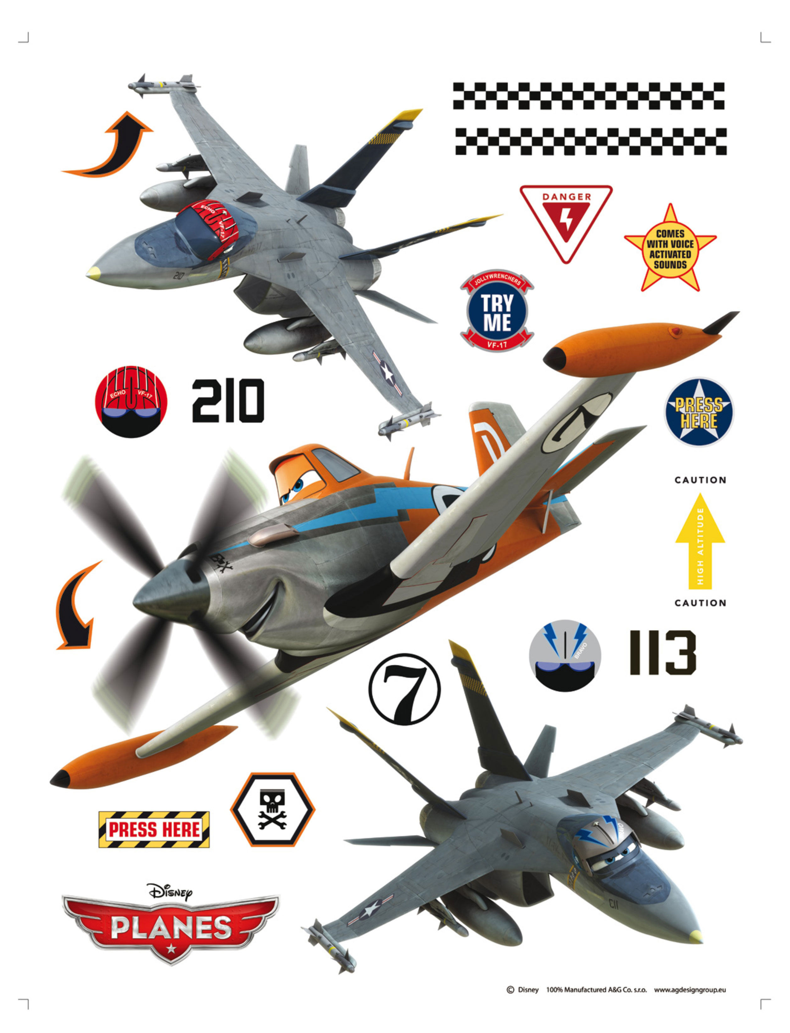 Maxi nálepka Planes DK1772 (Dekorativní samolepka)