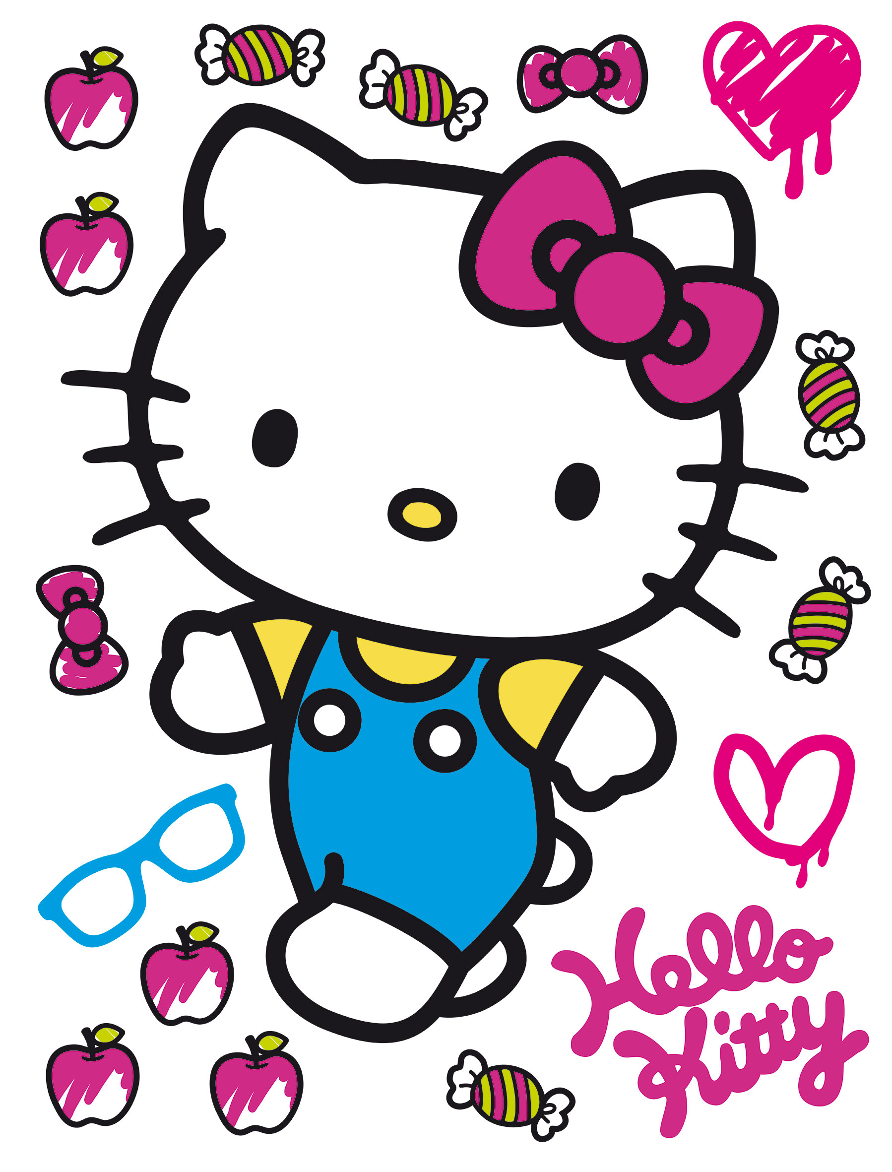 Maxi nálepka Hello Kitty DK 1780 (Dekorativní samolepka)