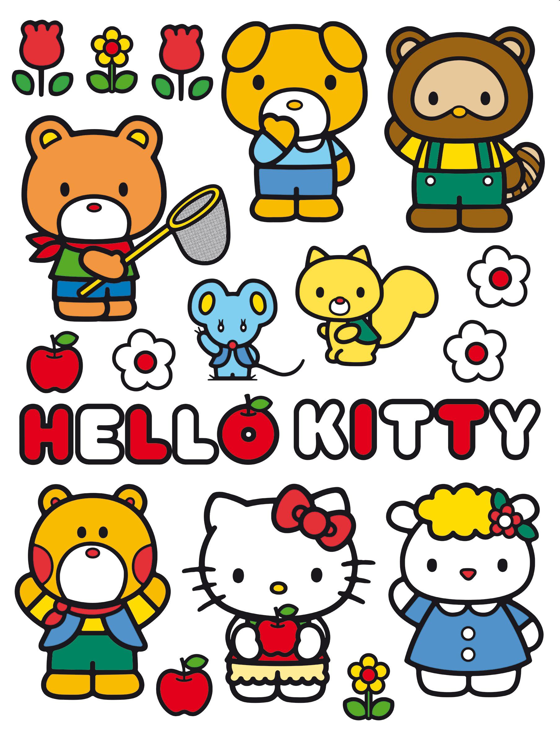 Maxi nálepka Hello Kitty DK 1781 (Dekorativní samolepka)