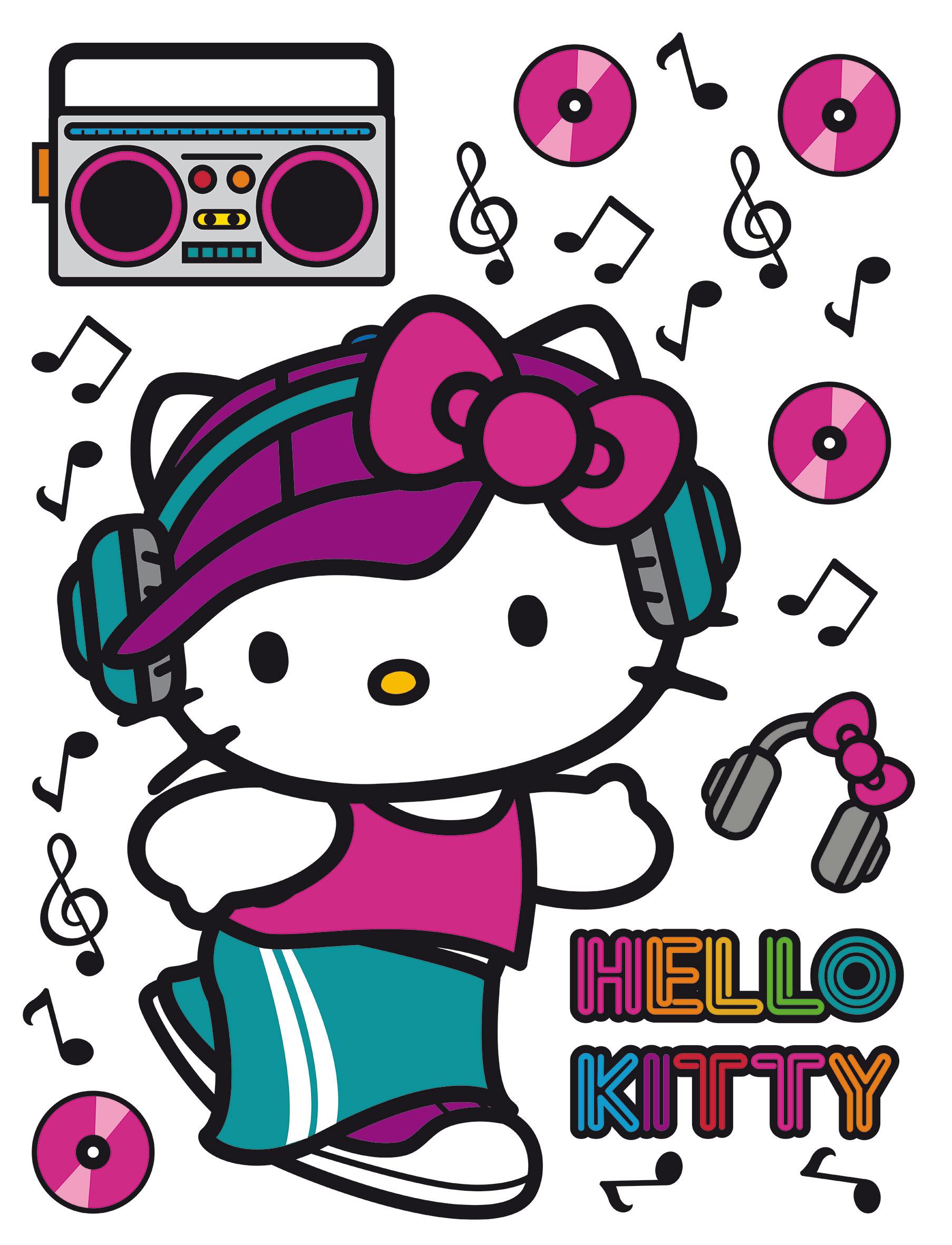 Maxi nálepka Hello Kitty DK 1782 (Dekorativní samolepka)