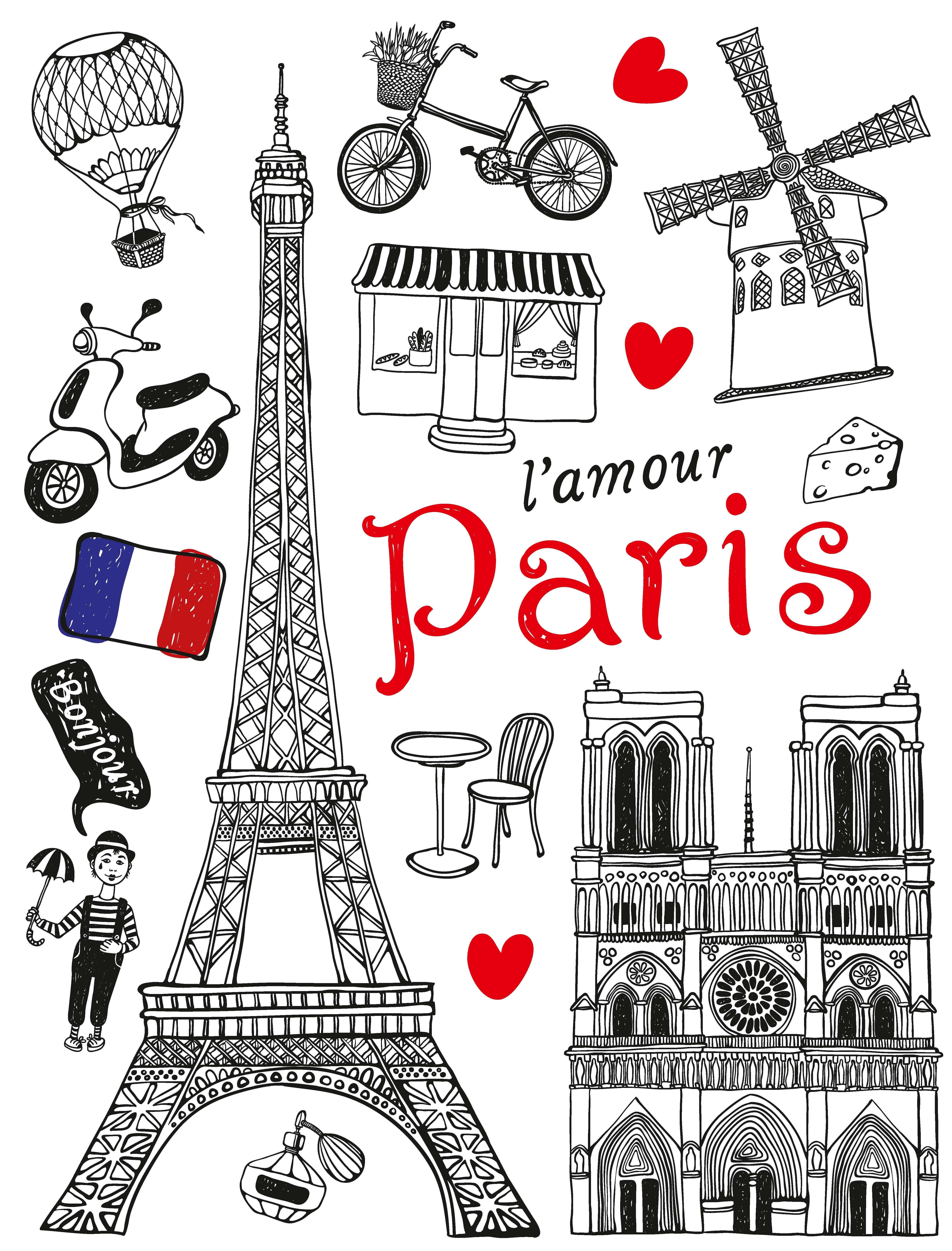 Samolepicí dekorace Paris F1039 (Dekorativní nálepka 65 x 85 cm)
