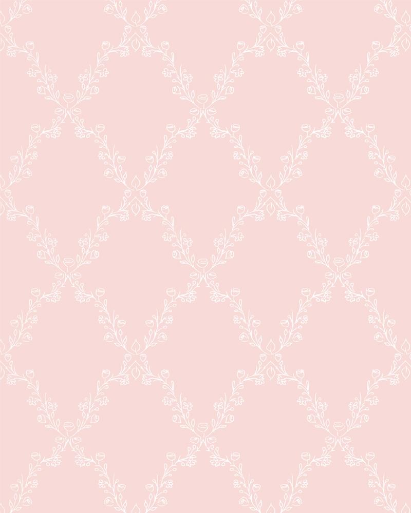 Tapeta na zeď Marburg Paradise 54103 (Vliesová tapeta - růžová, bílá)