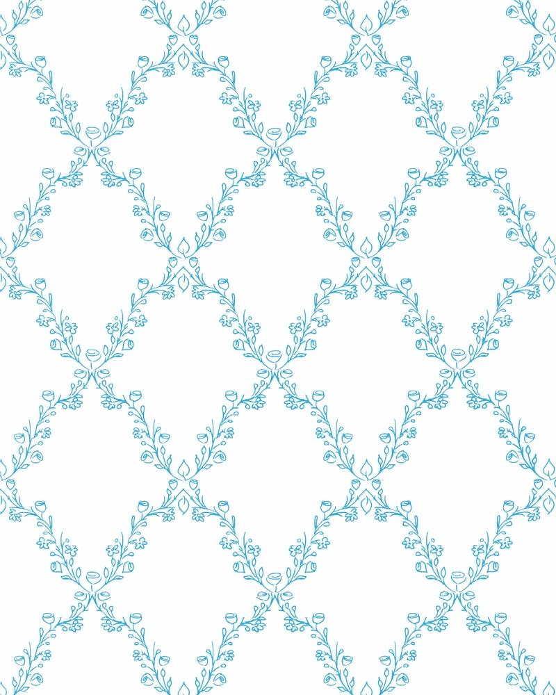 Tapeta na zeď Marburg Paradise 54104 (Vliesová tapeta - modrá, bílá)