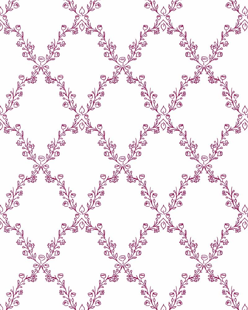 Tapeta na zeď Marburg Paradise 54105 (Vliesová tapeta - růžová, bílá)