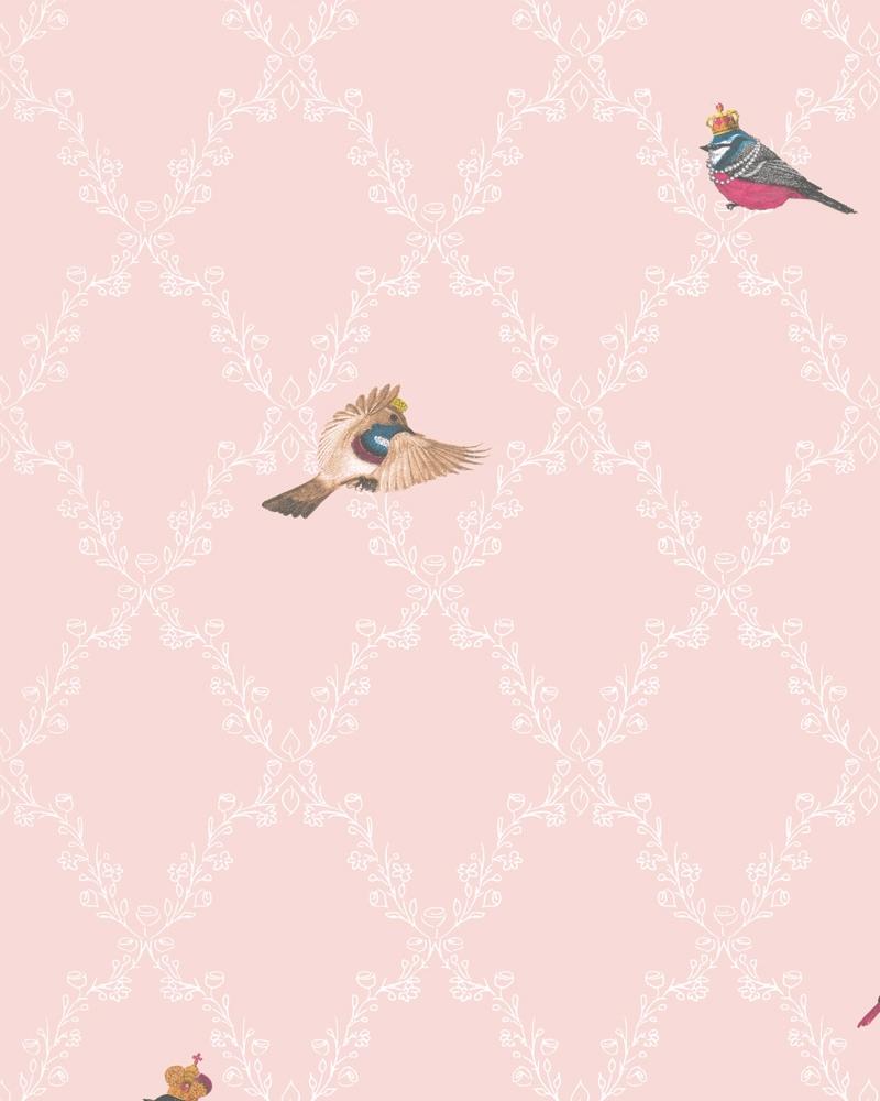 Tapety na zeď Marburg Paradise 54112 (Vliesová tapeta - bílá, růžová)