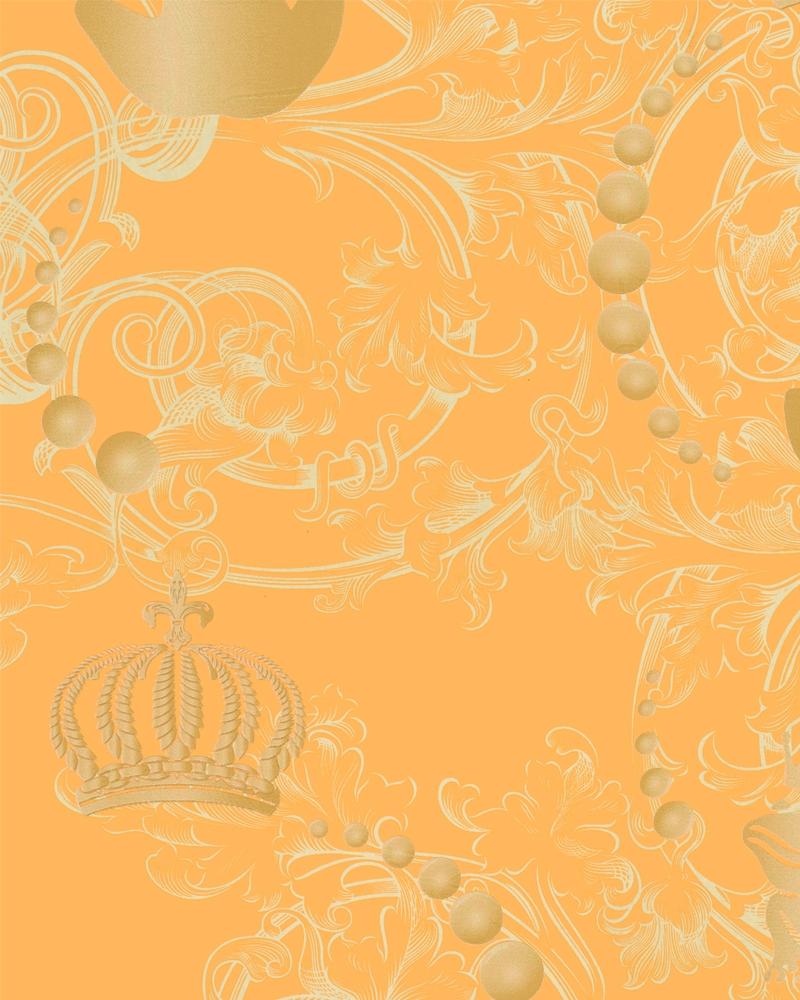 Tapety na zeď Marburg Paradise 54113 (Vliesová tapeta - oranžová, zlatá)
