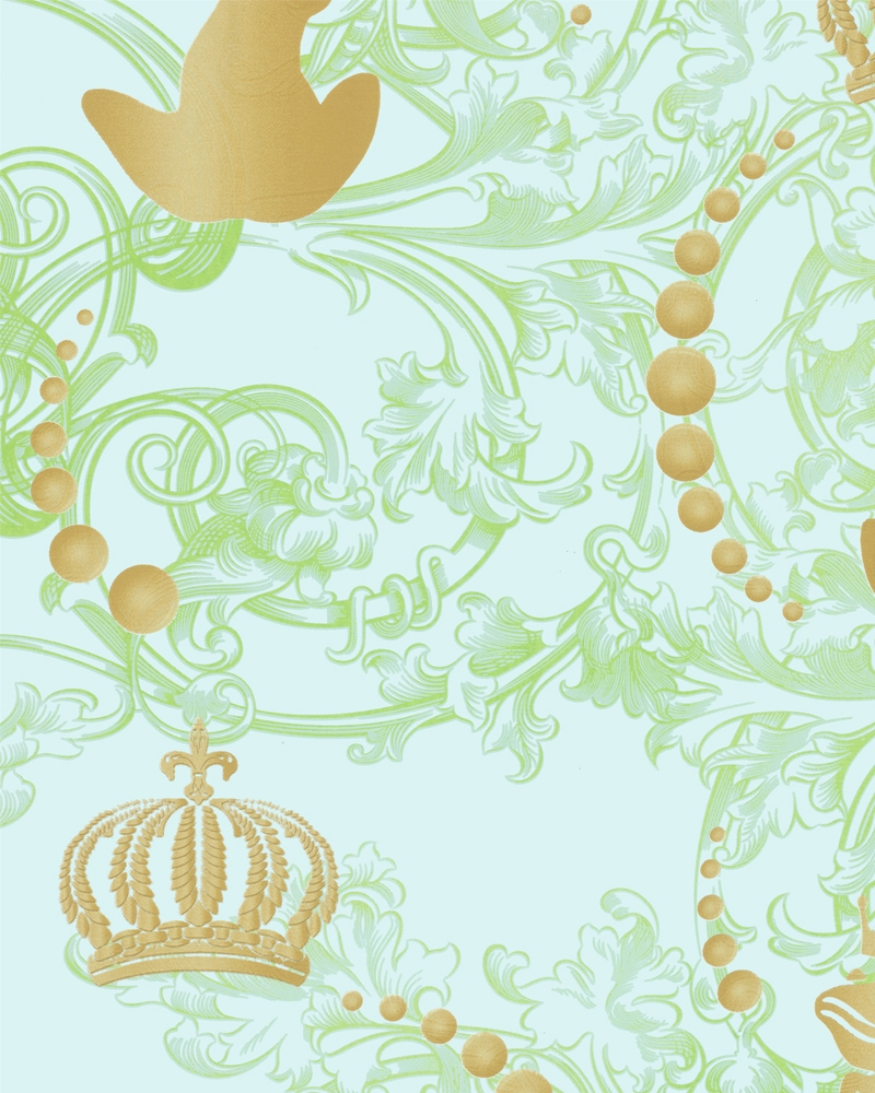 Tapety na zeď Marburg Paradise 54114 (Vliesová tapeta - zelená, zlatá)