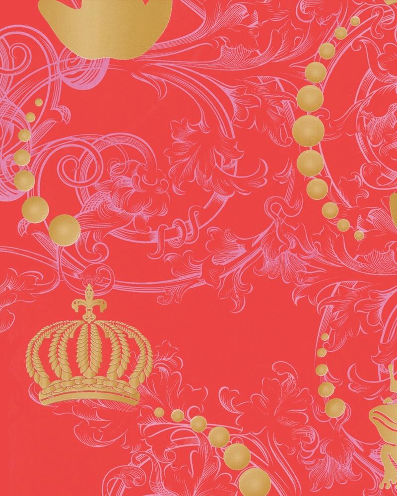 Tapety na zeď Marburg Paradise 54115 (Vliesová tapeta - červená, zlatá)