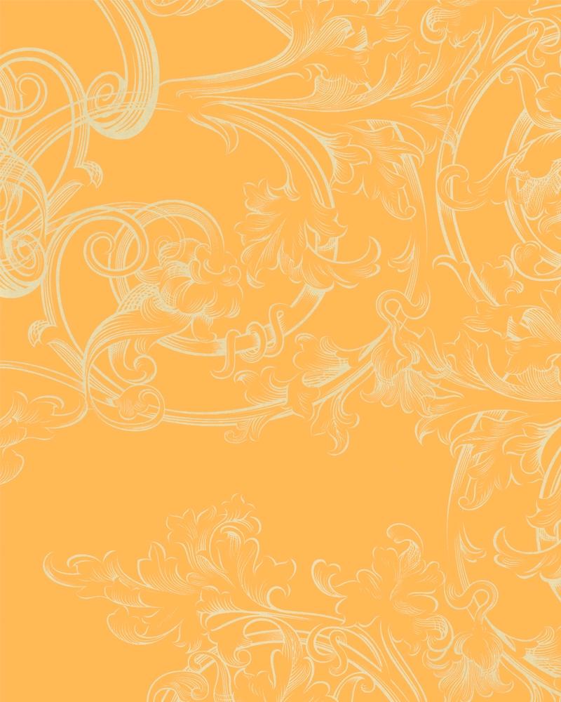 Tapety na zeď Marburg Paradise 54117 (Vliesová tapeta - oranžová, zlatá)