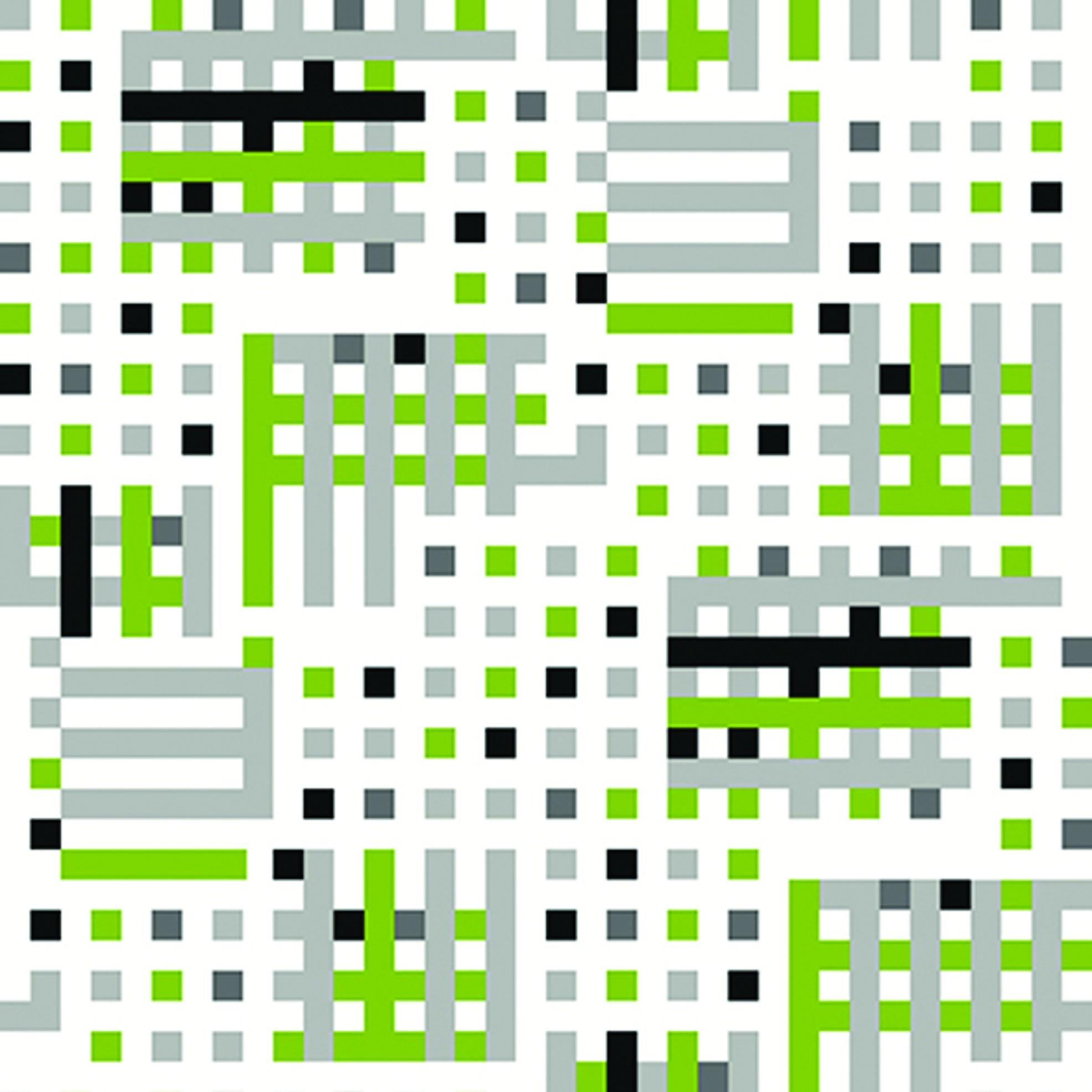 Tapeta na stěnu Vavex J134-04 | 0,53 x 10,05 m (Vinylová tapeta - zelená, černá, stříbrná)