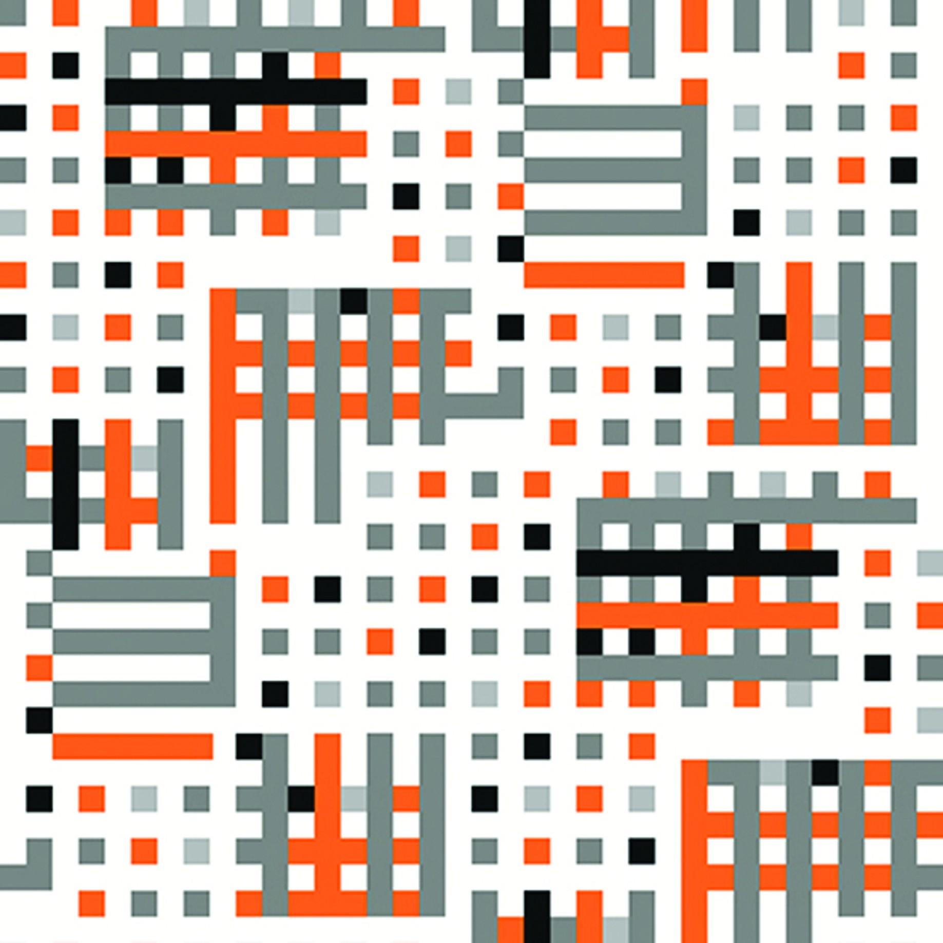 Tapeta na stěnu Vavex J134-05 | 0,53 x 10,05 m (Vinylová tapeta - oranžová, šedá, černá)