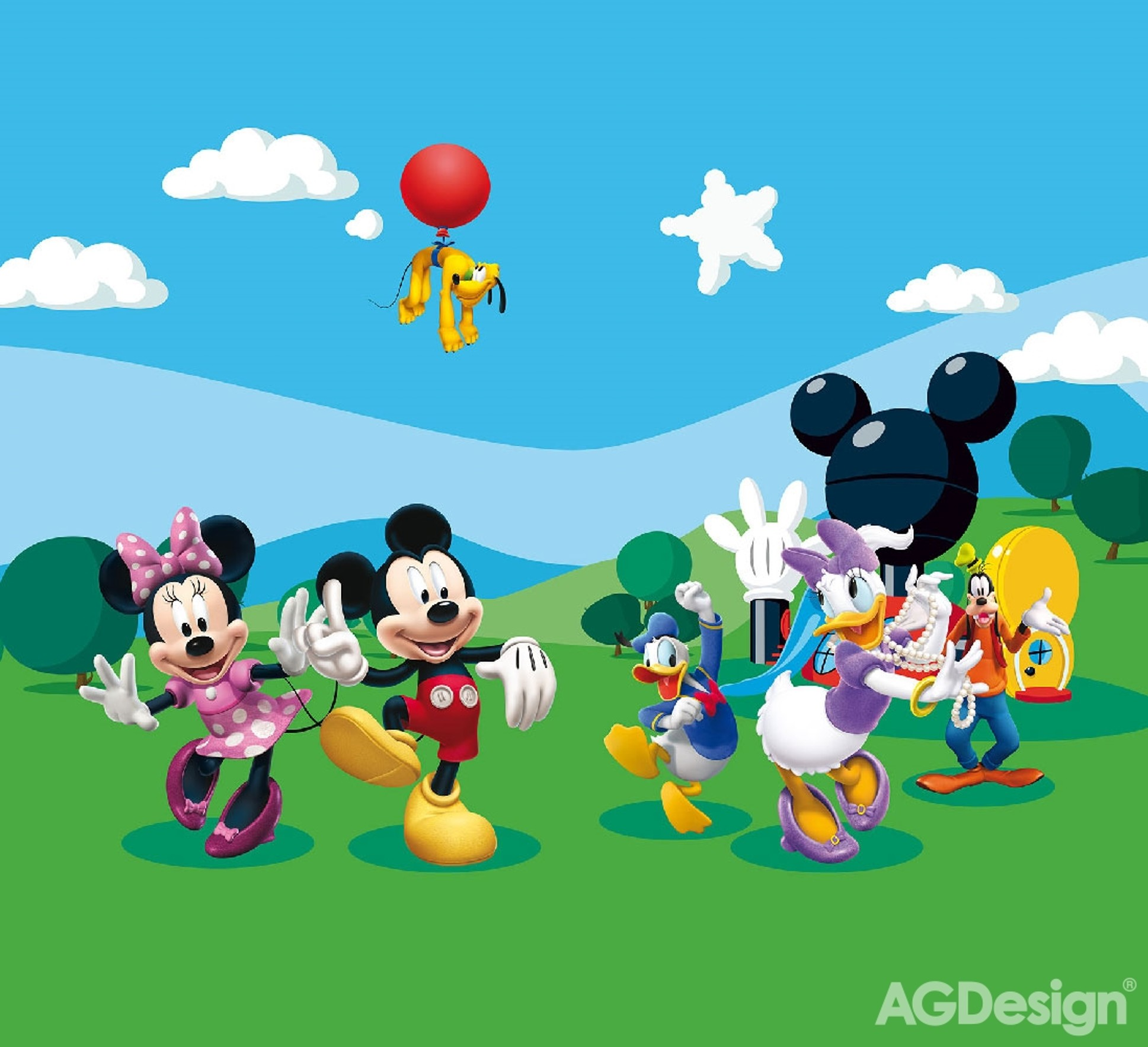 Fotozávěsy AG Design Mickey FCP XXL 6008 (Závěs PES 280g | 280 x 245 cm)