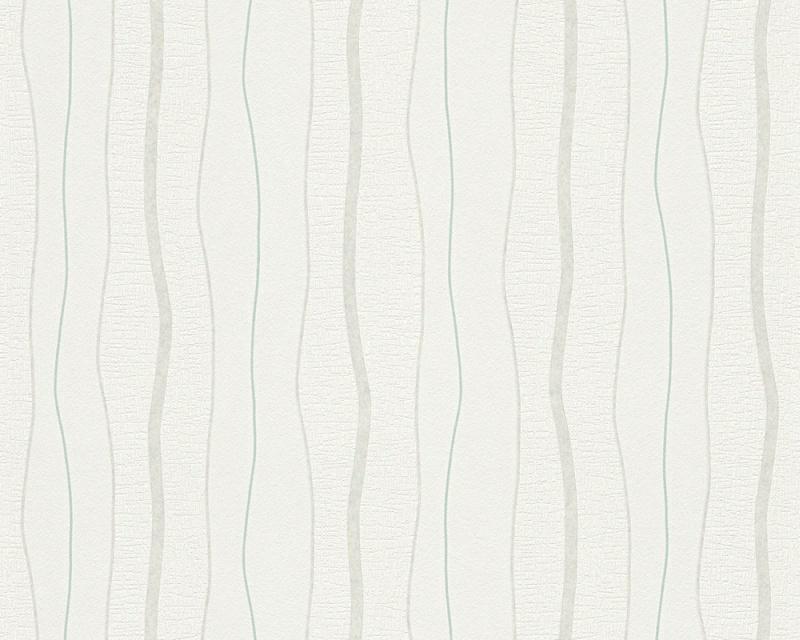 Moderní tapeta OK 7 96226-4 | 0,53 x 10,05 m (Vliesová tapeta - šedá, tyrkysová)
