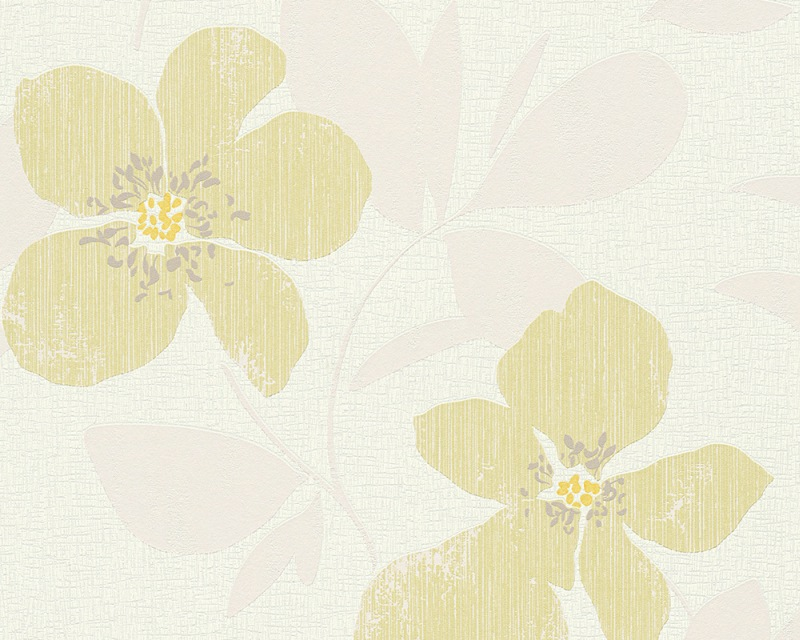 Moderní tapeta OK 7 96227-2 | 0,53 x 10,05 m (Vliesová tapeta - smetanová, žlutá)