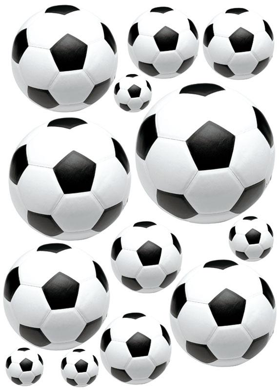 Dekorace na zeď Soccer Ball ST1 005 (Samolepicí dekorace 50 x 70 cm)