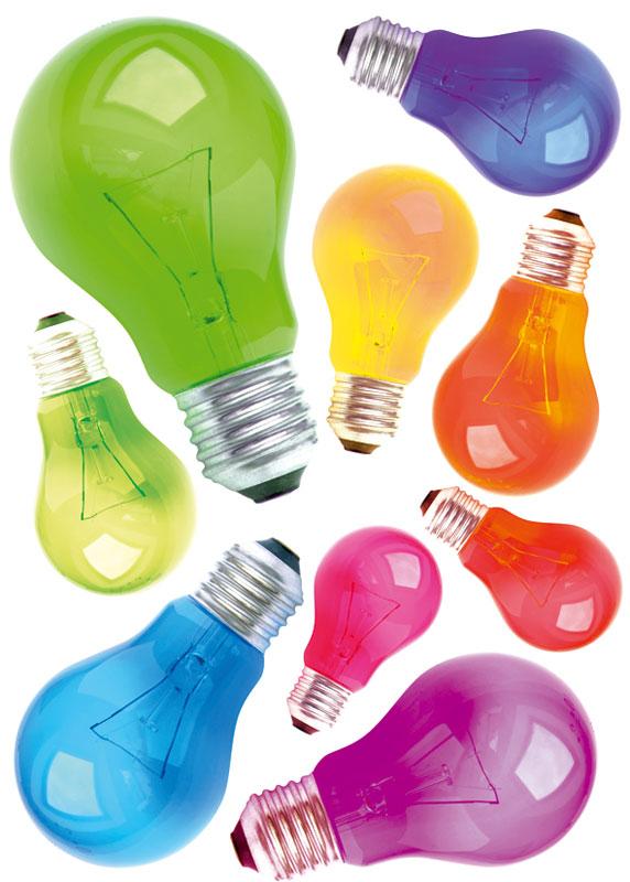 Dekorace na zeď Light Bulbs ST1 009 (Samolepicí dekorace 50 x 70 cm)