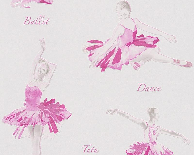 Dětská tapeta Boys and Girls 30528-1 | 0,53 x 10,05m (Vinylová tapeta - šedá, růžová)