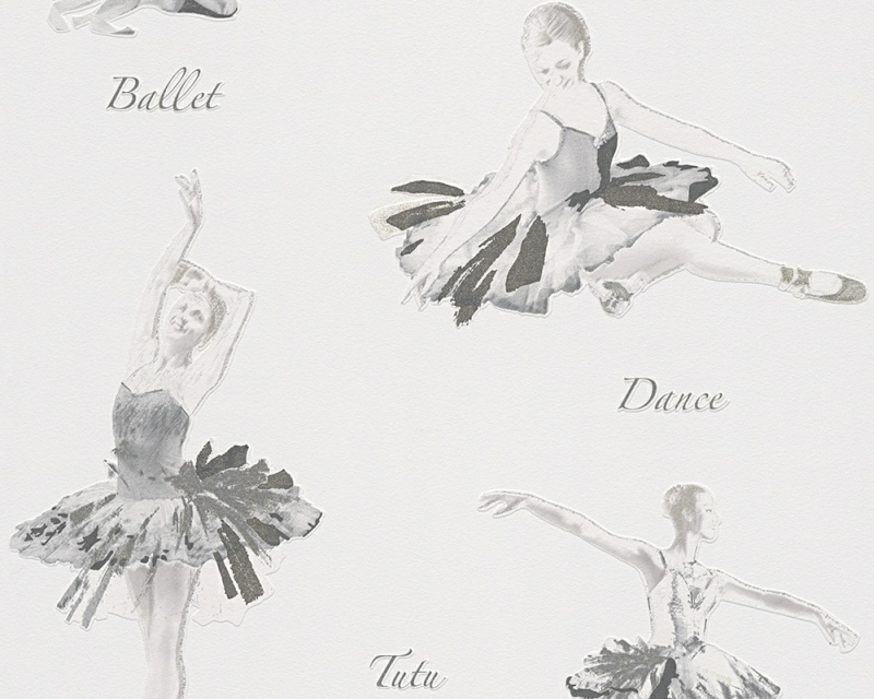 Dětská tapeta Boys and Girls 30528-3 | 0,53 x 10,05m (Vinylová tapeta - šedá, krémová)