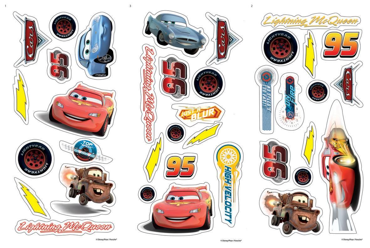 Mini stickers Cars D70003 | 51x34 cm (Dekorativní samolepka pro děti)