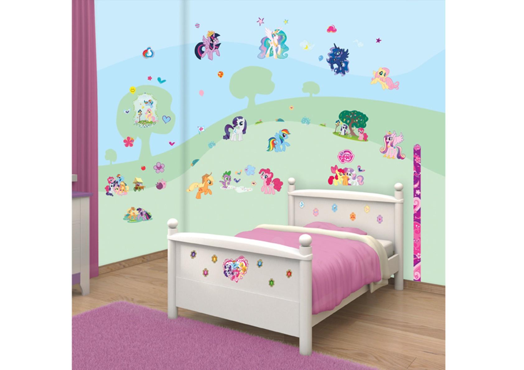 Samolepicí dekorace Walltastic My Little Pony 34 x 46 cm (Dětské samolepicí dekorace)