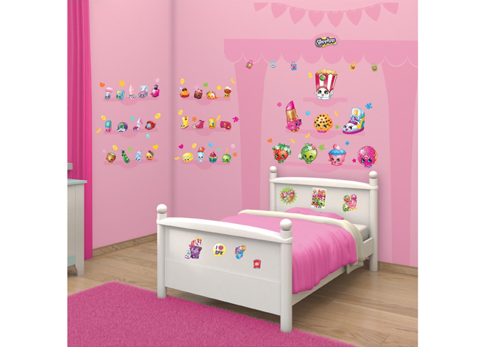 Samolepicí dekorace Walltastic Shopkins 34 x 46 cm (Dětské samolepicí dekorace)