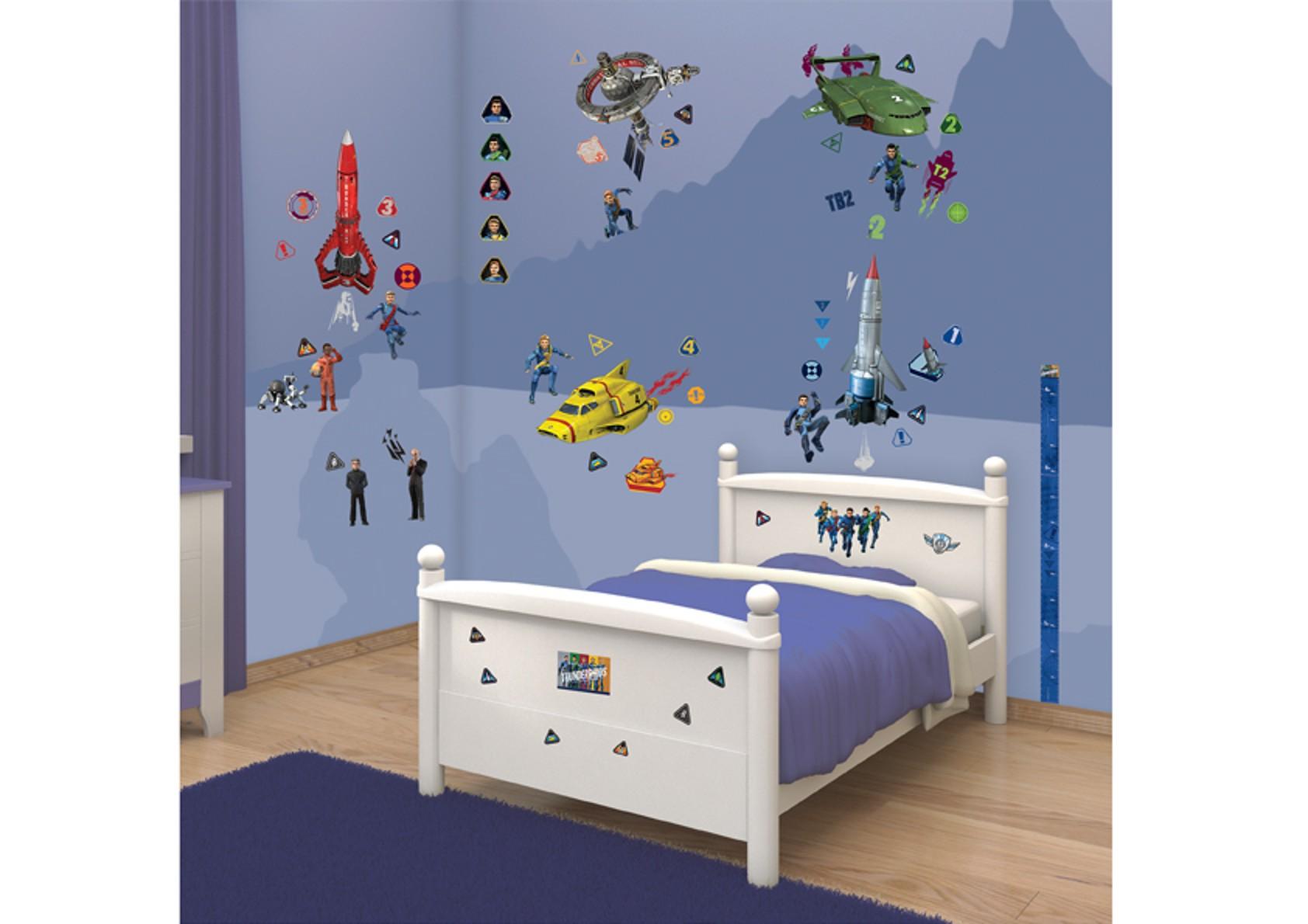 Samolepicí dekorace Walltastic Thunderbirds 34 x 46 cm (Dětské samolepicí dekorace)